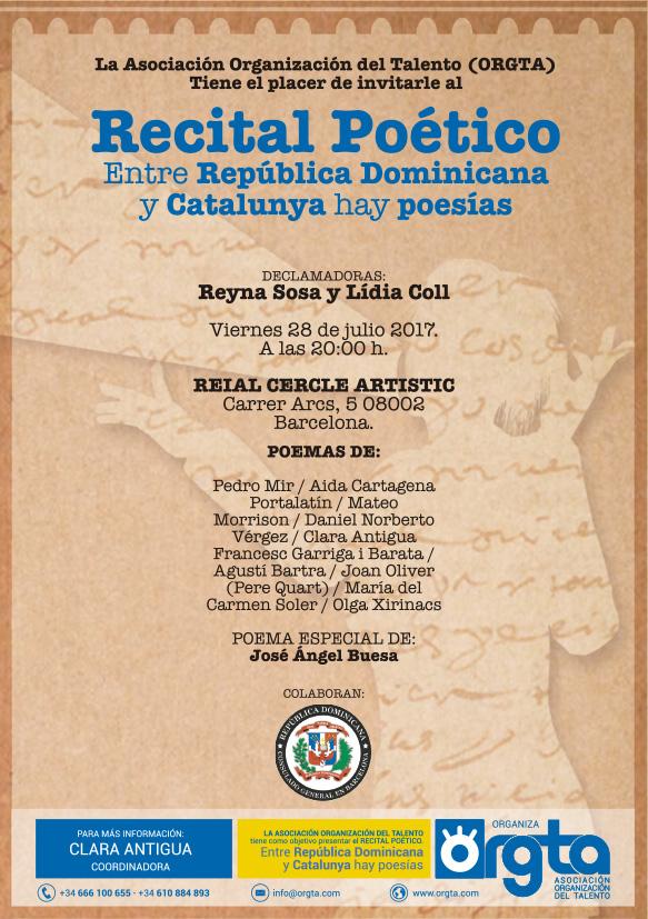 Entre República Dominicana y Catalunya hay poesías